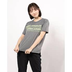 レディース 半袖機能Tシャツ UA Tech Box Graphic Tee 1364216 (グレー)