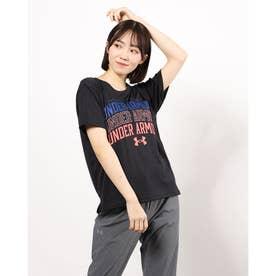 レディース 半袖機能Tシャツ UA Text Logo Tee 1364669 (ブラック)