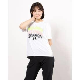 レディース 半袖機能Tシャツ UA Text Logo Tee 1364669 (ホワイト)