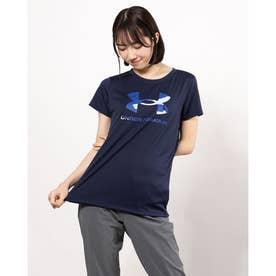 レディース 半袖機能Tシャツ UA Tech Big Logo Tee 1364211 (ネイビー)
