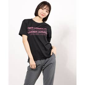 レディース 半袖機能Tシャツ UA Tech Box Graphic Tee 1364216 (ブラック)