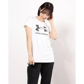 レディース 半袖機能Tシャツ UA Tech Big Logo Tee 1364211 (ホワイト)