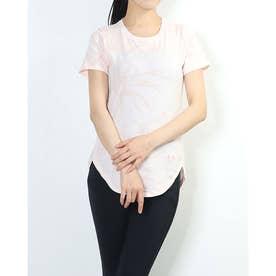 レディース 半袖Tシャツ UA Design Printed Tee 1364219 (ピンク)