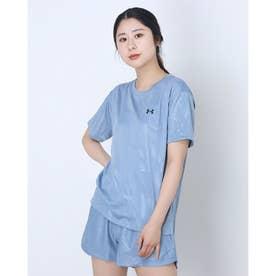 レディース 半袖機能Tシャツ UA Tech Box Printed Tee 1364217 (ブルー)