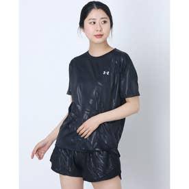 レディース 半袖機能Tシャツ UA Tech Box Printed Tee 1364217 (ブラック)