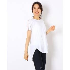 レディース 半袖機能Tシャツ UA Design Printed Tee 1368915 (ホワイト)