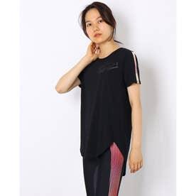 レディース 半袖機能Tシャツ UA Design Printed Tee 1368915 (ブラック)