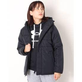 レディース 中綿ジャケット UA Insulated FZ Hoodie 1368909 (ブラック)