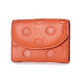 カウレザー折財布 (オレンジ)