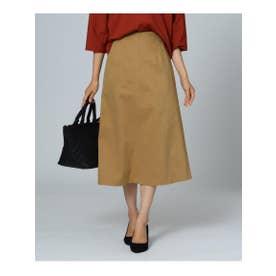 UNTITLED (153) 【洗える】バックベントAラインスカート (キャメル)