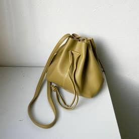 巾着ミニショルダーバッグ (緑系)