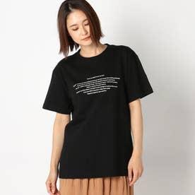 ロゴプリントTシャツ (クロ)