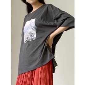 フォトプリントTシャツ (クロ)