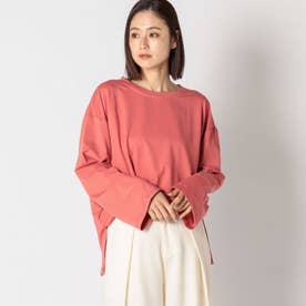 ゆるBIGシルケットロングTシャツ (ピンク)