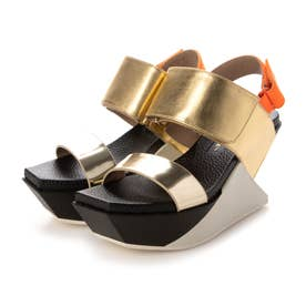 Delta Wedge Sandal (GOLD)
