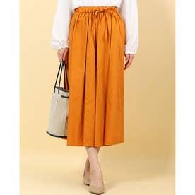 パンツコーティングギャザースカート (オレンジ)