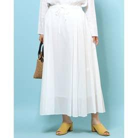綿ローンマキシスカート (オフホワイト)
