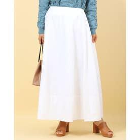 40ブロードプリントコーティングマキシスカート (オフホワイト)