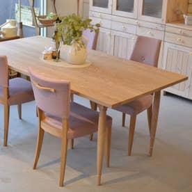 ダイニングテーブル(4本脚) 【返品不可商品】(オーク材・ウレタン塗装艶なし)