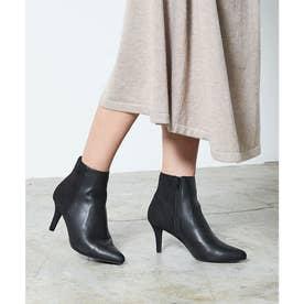 7cmポインテッドトゥショートブーツ (ブラック)