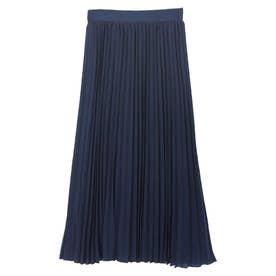 ミモレ丈プリーツスカート (ネイビー)