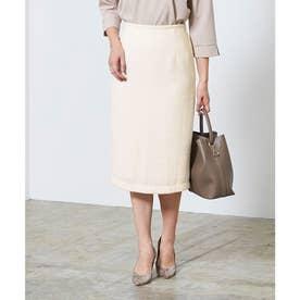 ベーシックツイードタイトスカート (ホワイト)