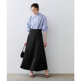 フレアサロペットスカート (ブラック)