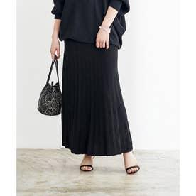プリーツロングスカート (ブラック)
