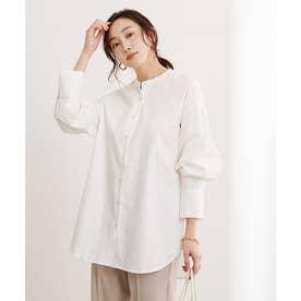 バックタックチュニックシャツ (オフホワイト)