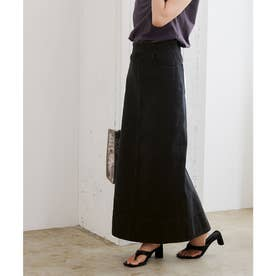 デニムタイトスカート (ブラック)
