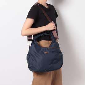 A4サイズナイロン多ポケット2WAYバッグ (ネイビー)
