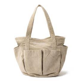 【軽量】ポケットたくさん コーデュロイA4トートバッグ (BE)