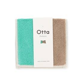 【Otta】ハーフタオルハンカチ (グリーン系(35))