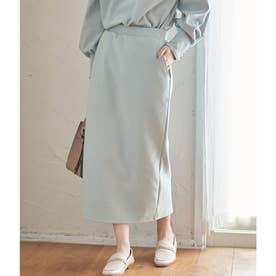 【WEB限定Lサイズ】【セットアップ対応】エコスエードポンチタイトスカート (ライトグリーン(33))