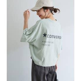 【CONVERSE】ViS別注ポケットロゴプリントTシャツ (ライトグリーン(33))