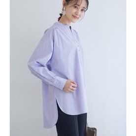 【WEB限定】コットンカフタンネックシャツ (ラベンダー(52))