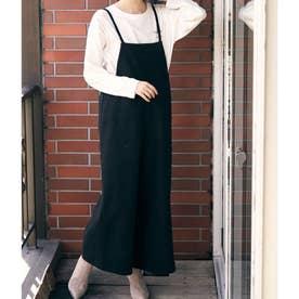 【WEB限定】起毛キャミサロペット (ブラック(01))