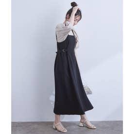 サイドバックルジャンパースカート (ブラック(01))