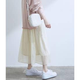 【WEB限定】シアーランダムプリーツスカート (キナリ)
