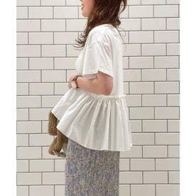 【選べる着丈】裾フハク切り替えドッキングカットソー (オフホワイト(15))