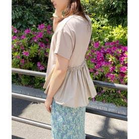 【選べる着丈】裾フハク切り替えドッキングカットソー (ベージュ(27))