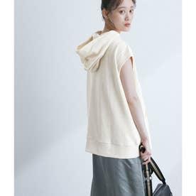 【WEB限定】ミニ裏毛フレンチスリーブパーカー (オフホワイト(15))