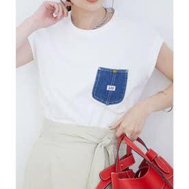【Lee×ViS】デニムポケットスリーブレスTシャツ (ホワイト(10))