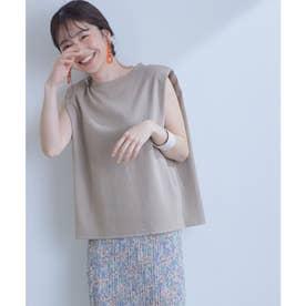 【星玲奈さんコラボ】ショルダーパットフレンチTシャツ (ベージュ系(29))
