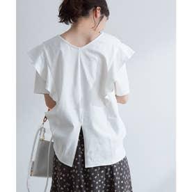 フリル切替ゆるTシャツ (オフホワイト(15))
