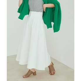 vis‐`a‐vis 【vis‐`a‐vis】デニム&チノハイウエストフレアースカート (ホワイト系)