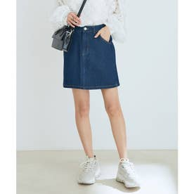 vis‐`a‐vis 【vis‐`a‐vis】デニム&ツイルミニスカート (ブルー系)