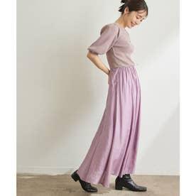 【美短】さっと着られて綺麗に決まる。シアーナロースカートドッキングワンピース (ピンク(63))