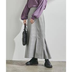 女性らしさを引き立つ、チェックアソートマーメイドスカート (グレー系(09))
