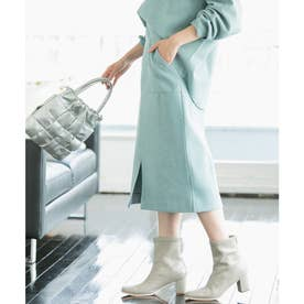 【Airy Warm】圧縮ニットソータイトスカート (ライトグリーン(33))